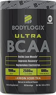 Bodylogix Ultra BCAA Powder, NSF Certified, Lemon Iced Tea, 14.8 Ounce