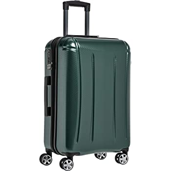AmazonBasics Oxford Expandable Spinner Luggage Suitcase with TSA Lock - 30.1 Inch, Green