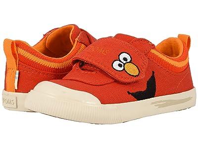 TOMS Kids Sesame Street Doheny (Toddler/Little Kid) (Red Elmo Face Canvas) Kid