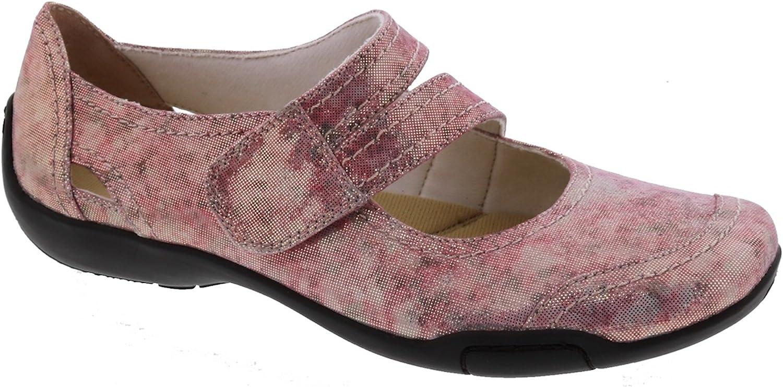 Ros Hommerson Chelsea 62005 Women's Casual Shoe: Watercolor/Iridescent 12 Wide (D) Velcro