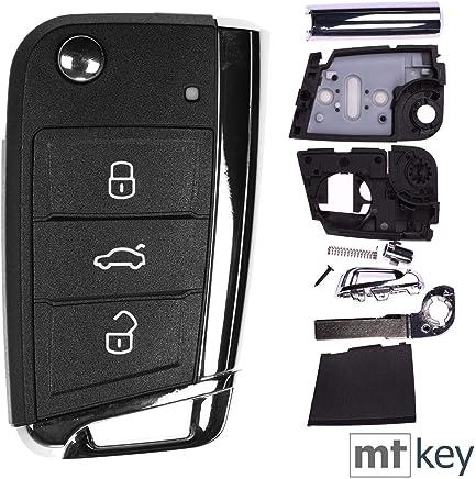 Auto Llave Mando a distancia 1x Carcasa 3botones + 1x en blanco HAA para Volkswagen Golf 7Passat