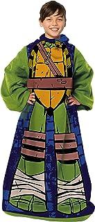 Nickelodeon Youth Comfy Throw Blanket with Sleeves Teenage Mutant Ninja Turtles, Being Leo, Multi Color