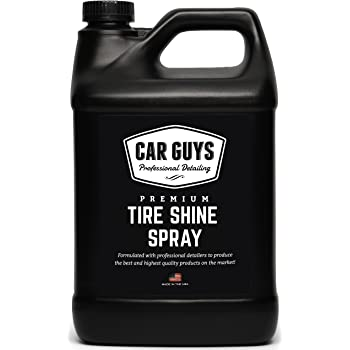 Tire Shine Spray 1 Gallon Bulk Refill - Best Tire Dressing Car Care for Car Tires After a Hand Car Wash - Car Detailing Spray for Wheels and Tires - by Car Guys Auto Detailing Supplies