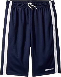 Chevron Vent Mesh Shorts (Big Kids)