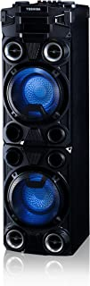 Toshiba TY-ASC400 Large Bluetooth Trolley Wireless High Power Indoor/Outdoor Stereo Speaker System, Disco LED Flashing Lights, 1000W of Peak Power, and Dual USB Port and SD Port
