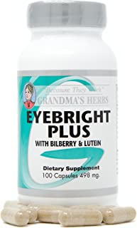 Grandma's Herbs Eyebright Plus - All Natural Herbal Supplement - Supports Healthy Vision & Protects Sight - Rich in Antiox...