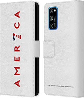 Head Case Designs Officially Licensed JVY Creations America Power 7 America Leather Book Wallet Case Cover Compatible with Huawei Honor View 30 Pro