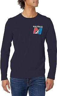 NAUTICA Men's Long Sleeve Sailing Graphic T-Shirt
