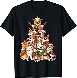 Corgi Christmas Tree Dog Santa Merry Corgmas Xmas Gifts Boys T-Shirt