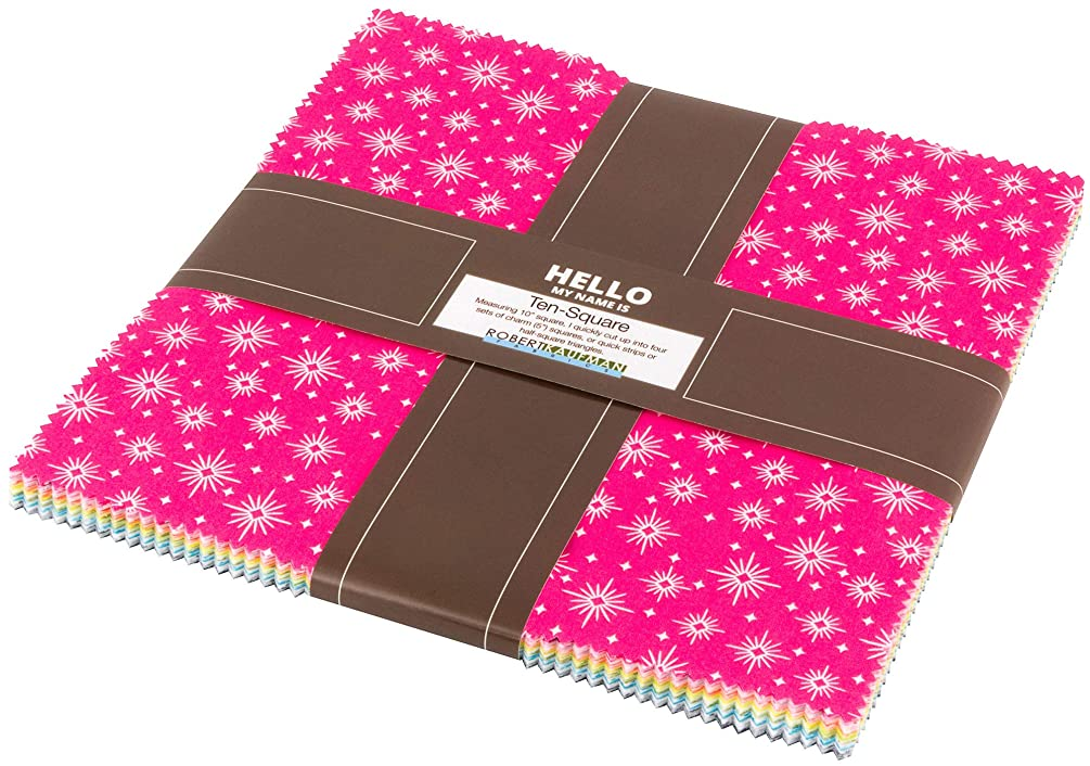 Violet Craft Betty's Luncheonette Ten Square 42 10-inch Squares Layer Cake Robert Kaufman TEN-661-42