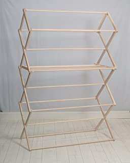 Pennsylvania Woodworks Clothes Drying Rack (Made in The USA) Heavy Duty 100% Hardwood (XXL)