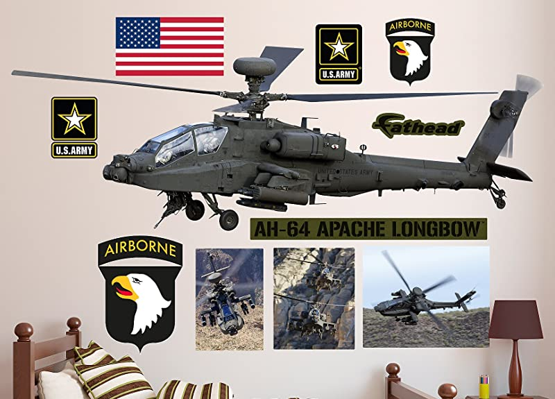 FATHEAD AH 64 Apache Longbow Helicopter Real Decals