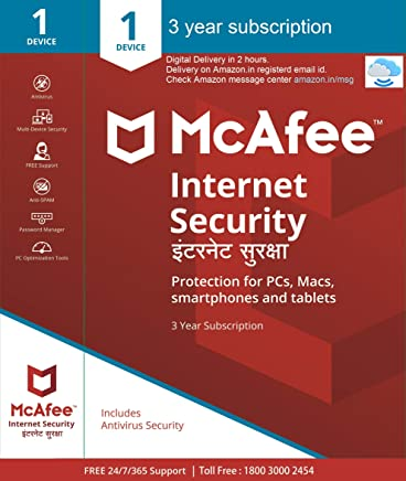 McAfee Internet Security - 1 User, 3 Years (Email Delivery in 2 hours- No CD)
