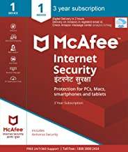 McAfee Internet Security (Windows / Mac / Android / iOS) - 1 User, 3 Years (Email Delivery in 2 hours- No CD)