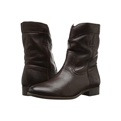 Frye Cara Roper Short (Chocolate Soft Pebbled Full Grain) Women
