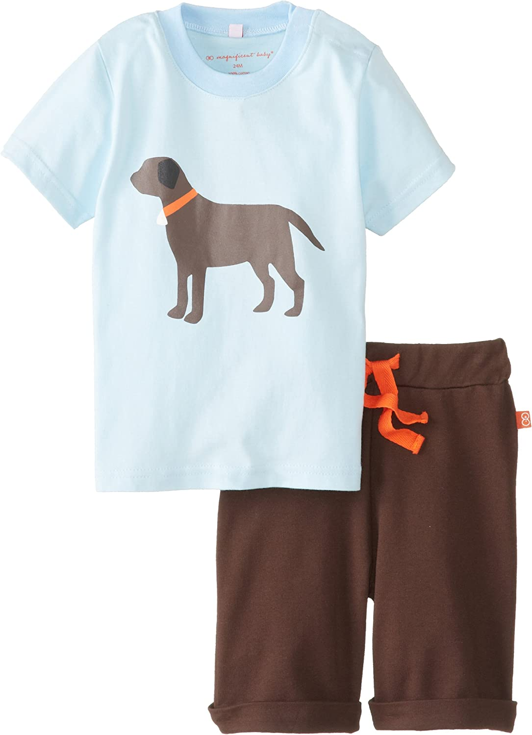 Magnificent Baby Baby Boys' Lab Tee with Short