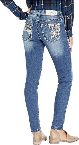 b076628282d5 Miss Me Five-Pocket Crop Flare Jeans in Light Blue   Zappos.com