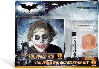 Deluxe Joker Wig & Make-Up Kit Costume Accessory