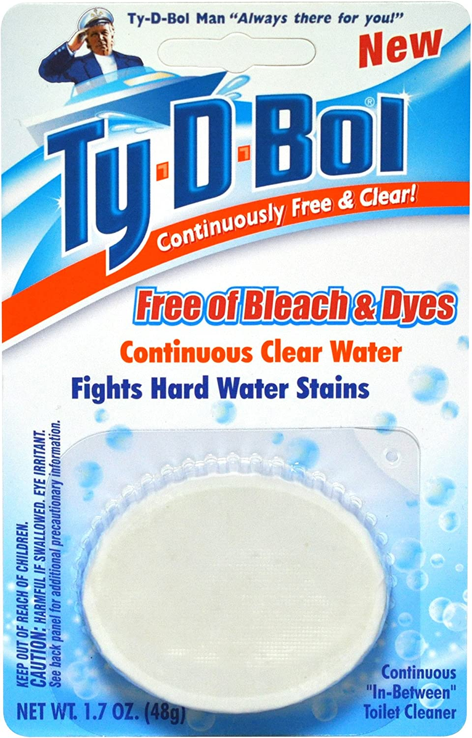 Ty-D-Bol Spring new work Free and Clear Toilet Deodorizes Cleaner To NEW before selling Cleans
