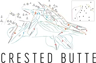 Crested Butte Poster, Crested Butte Ski Resort Poster, Crested Butte Art Print, Crested Butte Trail Map, Crested Butte Trail Map Art, Crested Butte Wall Art Poster, (12