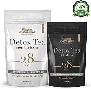 Detox Tea 28 Day Ultimate Teatox - Burn Fat and Boost Your Energy, Colon Cleanse, Restore Your Body Natural Balance and Accelerate Weight Loss - with Bonus Digital Welcome Guide