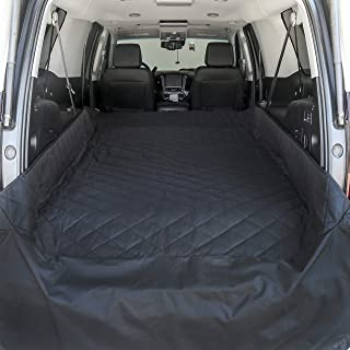 Plush Paws Products Extra Large Waterproof Non-Slip Pet Protective Cargo Liner with Floor Mat and Trunk Flap (Black)