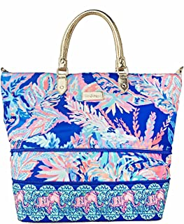Lilly Pulitzer | Weekender Expandable Travel Tote | Sunset Safari