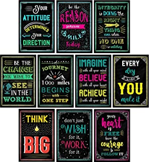 Apipi 8 Pcs Chalkboard Motivational Posters 12 /× 8 inches Inspirational Quotes Classroom Posters Wall Art for Students Teachers Counselors Principals School Classroom and Office Decorations