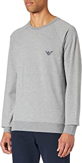 Emporio Armani Men's Underwear Sweater All Over Logo Terry Sweatshirt
