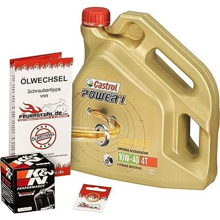 Castrol 10w 40 Öl K N Ölfilter Für Yamaha Fz1 Fazer Gt 06 15 Rn16 Ölwechselset Inkl Motoröl Filter Dichtring Auto