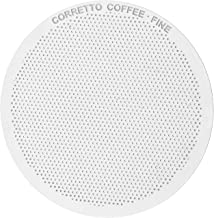 1 FINE Pro Reusable Filter for use in AeroPress Coffee Maker, Premium Stainless Steel, Brewing Guide Included Guarantee