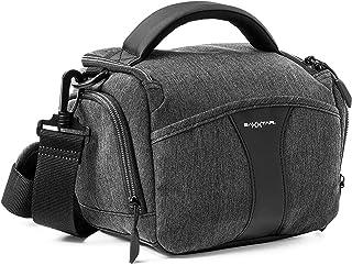 Baxxtar Modena SLR cameratas - regencape schouderriem riemlus - drie kleuren ritsband - compatibel met Canon EOS R6 M50 25...