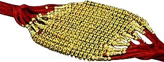 Confidence Rakhi Thread With Stones Work Design Rakhi For Brother Bhaiya (Set Of 12 Pcs)