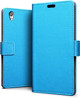 SLEO Sony Xperia L1 Case - SLEO Luxury Slim PU Leather Flip Protective Magnetic Wallet Cover Case for Sony Xperia L1 with Card Slot and Stand Feature - Blue