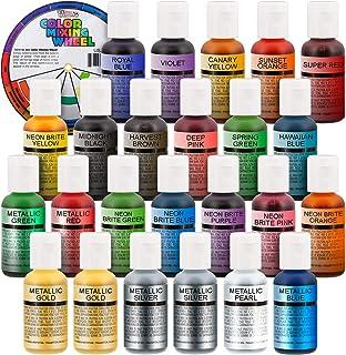 U.S. Cake Supply Deluxe 24 Bottle Airbrush Cake Color Set - The 22 Most Popular Colors in 0.7 fl. oz. (20ml) Bottles Bonus...