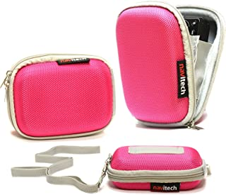 Navitech Pink Hard Water Resistant Case/Cover Compatible with The mp3 Digital Audio Player Compatible with The Philips SA4VBE08KN/12 GoGear Vibe 8GB