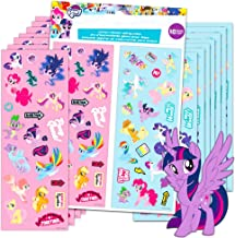 My Little Pony Stickers Party Favors 16 Sheets Over 380 Stickers plus 2 Separately Licensed Reward Stickers - MLP favorites include Rainbow Dash, Twilight Sparkle, Pinkie Pie, Rarity, and more