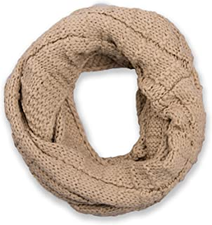 unisex 01018150 sciarpa ad anello styleBREAKER calda sciarpa scaldacollo in maglia con motivo intrecciato e morbidissimo rivestimento interno in pile