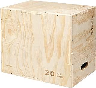 AmazonBasics Wood Plyometric Exercise Box, 16