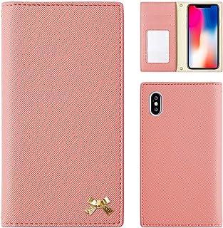 Android One X2 ケース 手帳型 アンドロイドワン スマホケース ピンク 可愛い ribbon