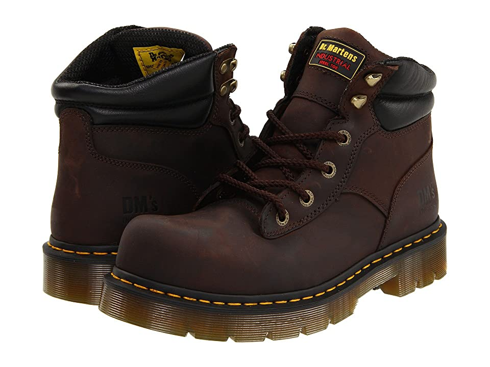 Dr. Martens Burnham ST 6 Tie Boot (Gaucho Volcano) Work Lace-up Boots