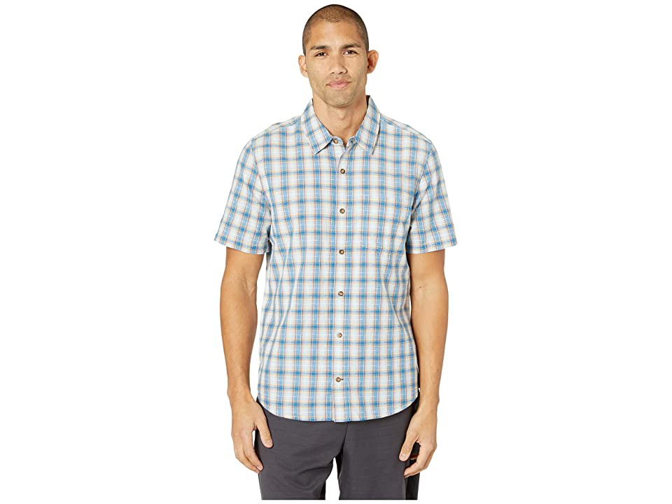 Toad&Co Airscape Short Sleeve Shirt (Snorkel Blue) Men