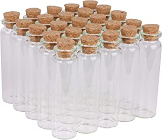 MaxMau Small Bottles with Corks,20 Milliliter 100 Packs Tiny Vials Mini Cork Jars for DIY Art Crafts Projects Party Decoration Wedding Favors