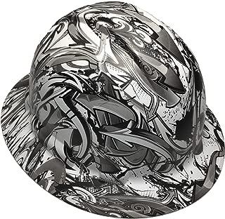 Hard Hat Ridgeline Full Brim Custom White Graffiti Satin