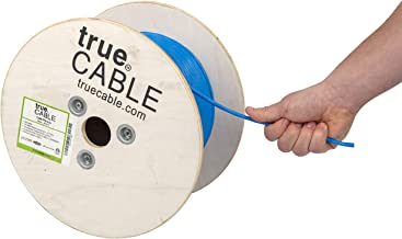 Cat6 Plenum (CMP), 500ft, Blue, 23AWG 4 Pair Solid Bare Copper, 550MHz, ETL Listed, Unshielded Twisted Pair (UTP), Bulk Ethernet Cable, trueCABLE