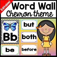 Word Wall Decor - Editable! {26 Word Wall Letters and 220 Word Wall Words!}