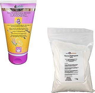 SudoreWell® Crème lavande de sauna 150 g + 1,0 kg Sel peeling de sauna sachet
