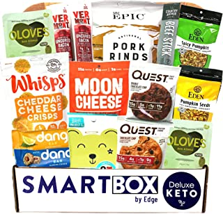 Keto Snack Box and Care Package | Low Carb and Keto Friendly Gift or Snack Set | Packed with Low Carb, Low Glycemic, and D...