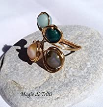 orecchini artigianali pendenti donna con perle di agata Magie di Trilli Idea regalo compleanno