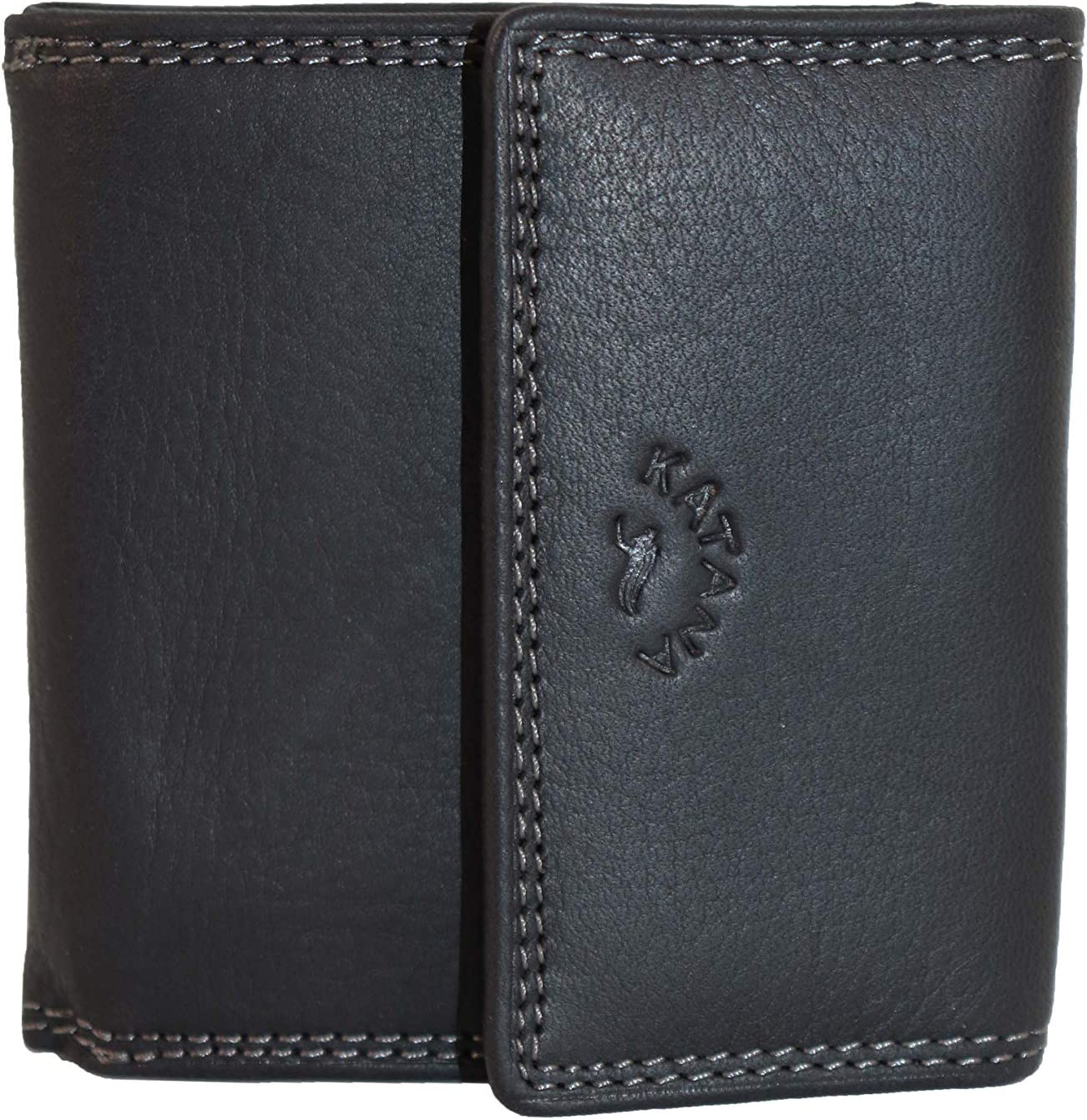 3 Couleurs Disponible KATANA Porte Monnaie Double Face en Cuir r/éf 753032 Choco